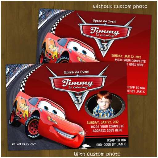 Disney Cars Birthday Invitations Lightning Mc Queen Printable