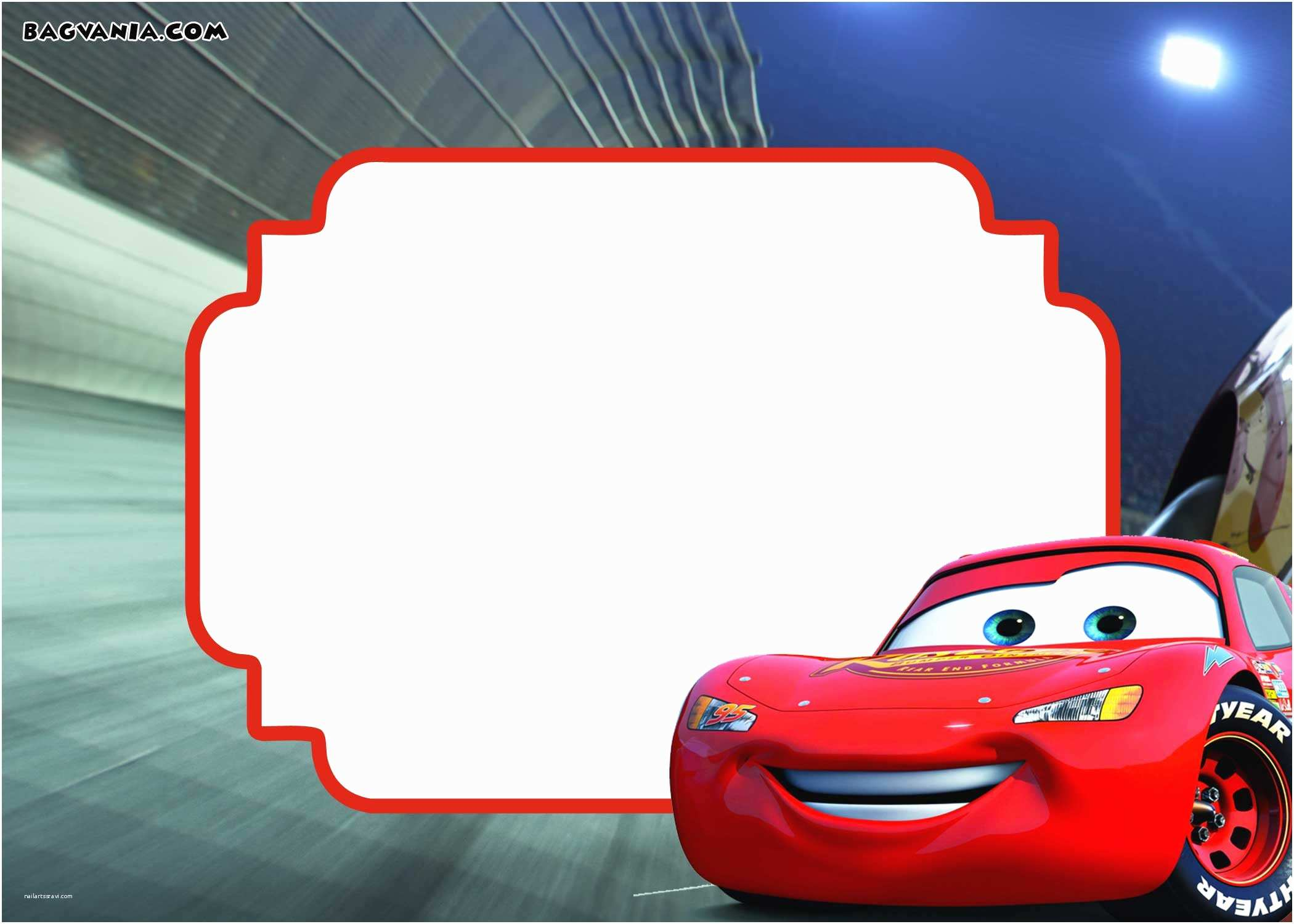 Disney Cars Birthday Invitations Disney Pixar Cars Lightning Mcqueen