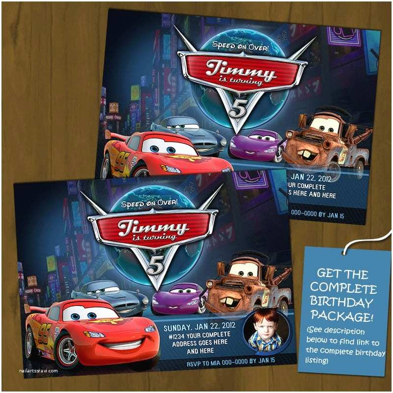 Disney Cars Birthday Invitations Free Printable 2 Invitation