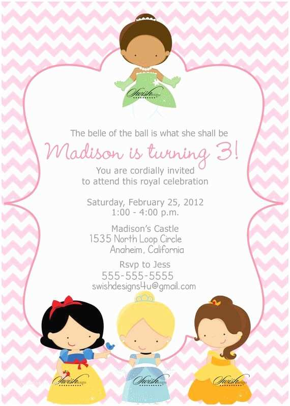 Disney Princess Birthday Invitations 17 Best Images About Disney Princess Invitations On