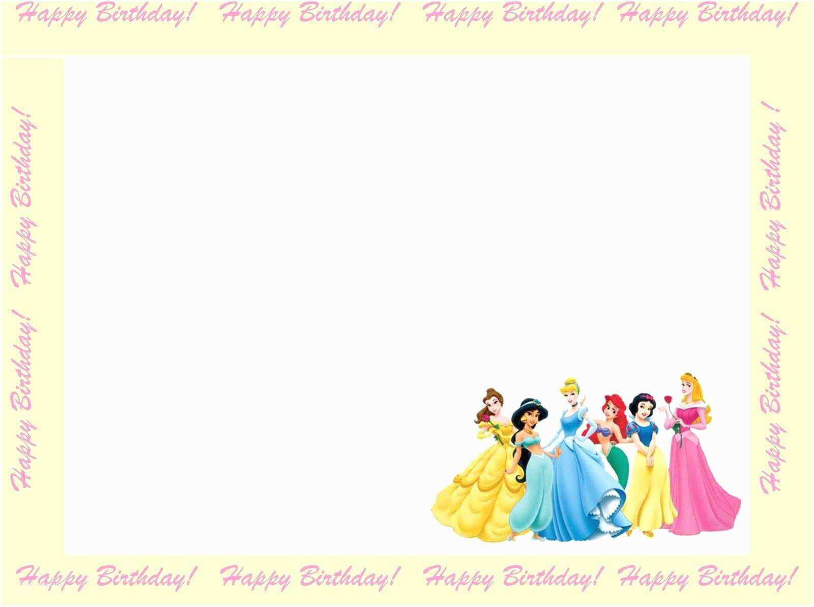 Disney Princess Birthday Invitations 6 Free Borders for Birthday Invitations