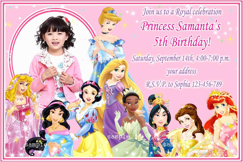 Disney Princess Birthday Invitations Chandeliers & Pendant Lights