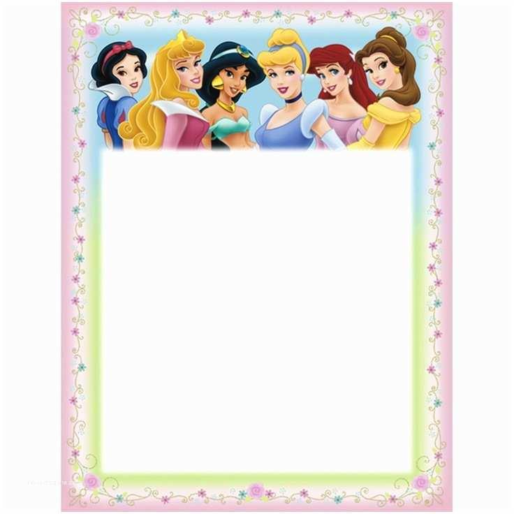 Disney Princess Birthday Invitations Disney Birthday Cards