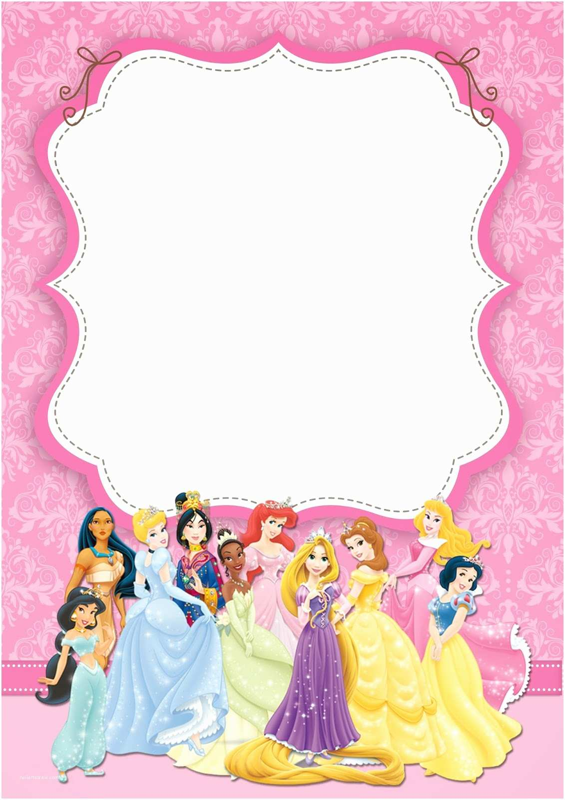 Disney Princess Birthday Invitations Disney Princess Party Free Printable Party Invitations