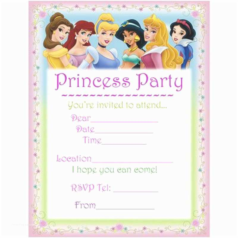 Disney Princess Birthday Invitations Free Printable Disney Party Invitation – orderecigsjuicefo