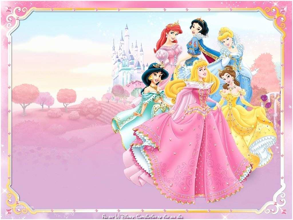 Disney Princess Birthday Invitations Free Printable Disney Princess Birthday Invitation