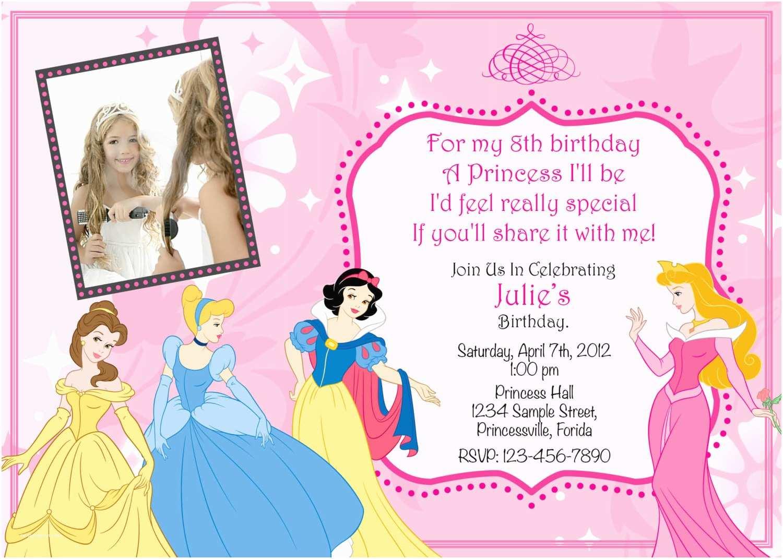 Disney Princess Birthday Invitations Princess Birthday Party Invitations Ideas