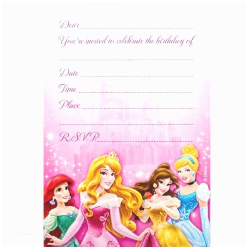 Disney Princess Party Invitations Disney Party Invitations Template Resume Builder