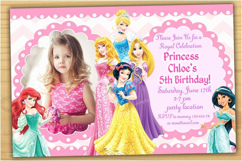 Disney Princess Party Invitations Disney Princess Birthday Invitation Disney Princess