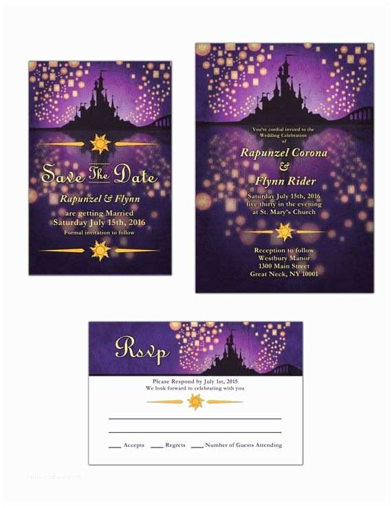 Disney Themed Wedding Invitations 1000 Ideas About Fairytale Wedding Invitations
