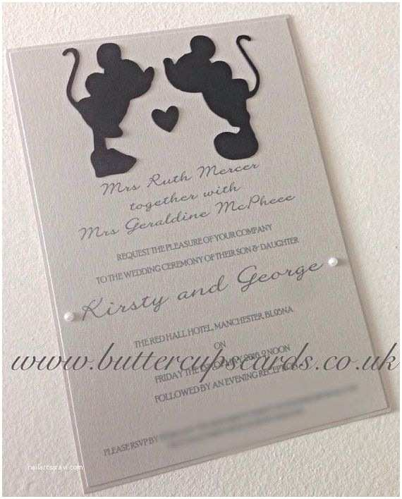 Disney Themed Wedding Invitations 50x Disney Inspired Wedding Invitations By