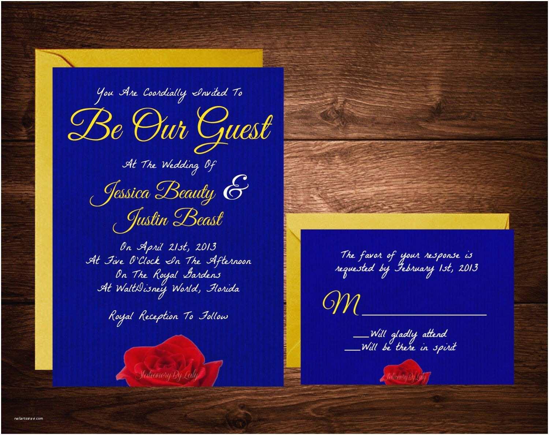 Disney Themed Wedding Invitations Beauty And The Beast Wedding Invitations