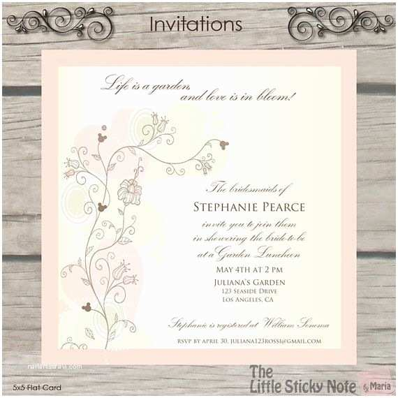 b792ba1cc5d Disney themed Wedding Invitations Bridal Shower Invitations Disney themed Bridal  Shower