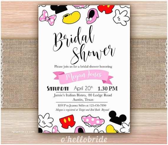 Disney themed Wedding Invitations Disney Bridal Shower Invitation Printable Disney Engagement