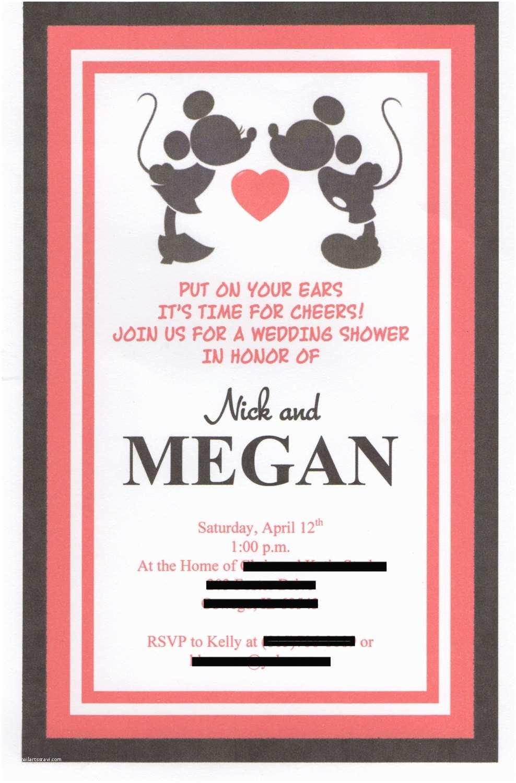 Disney Themed Wedding Invitations Disney Themed Wedding Shower Invitation Set Of