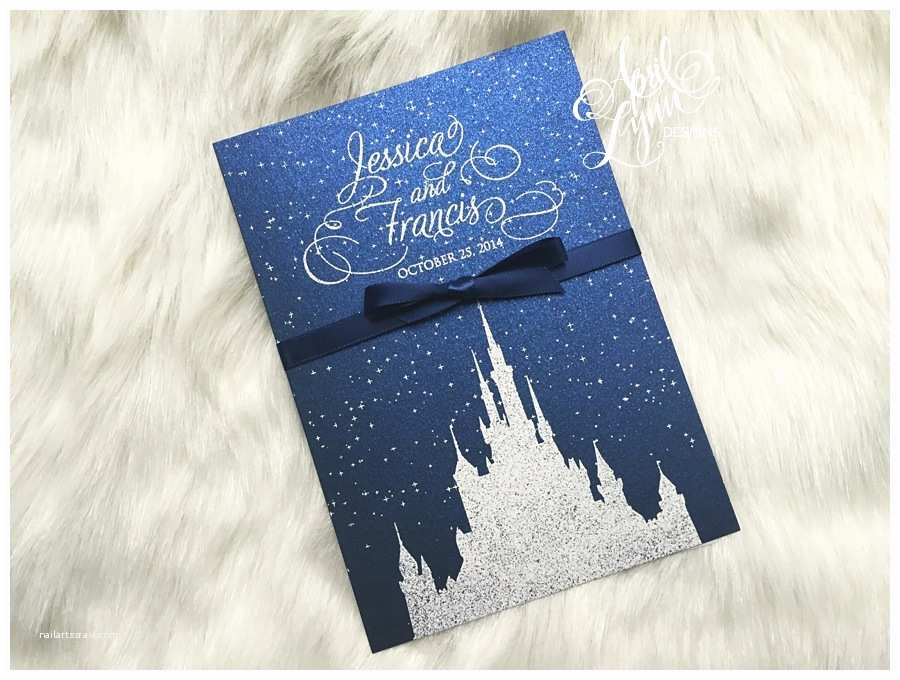 Disney Themed Wedding Invitations Jessica Francis Wedding Invitation