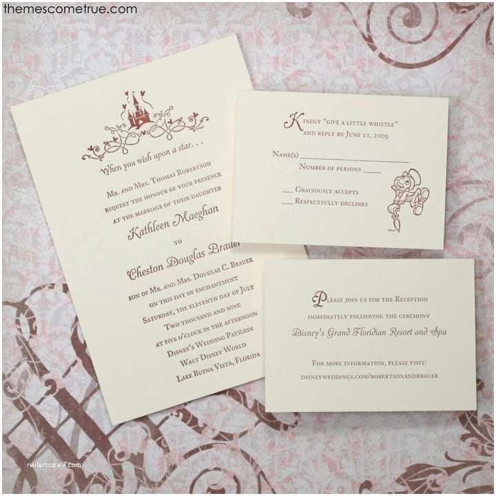 Disney Themed Wedding Invitations Letterpress Disney Invitation Wedding