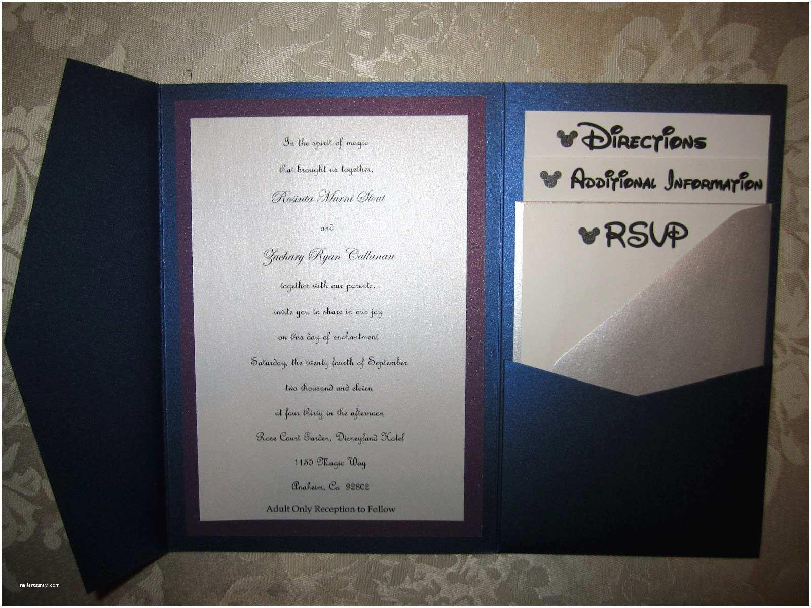 Disney Themed Wedding Invitations Mickey Inspired Details At A Disneyland Wedding