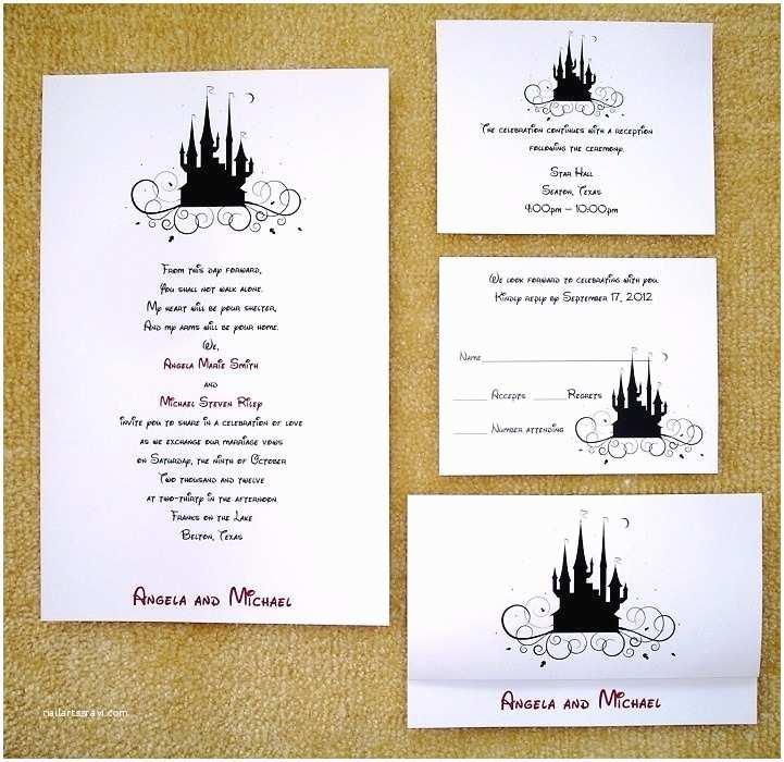 Disney Wedding Invitations 17 Best Images About Wedding Invites & Programs On