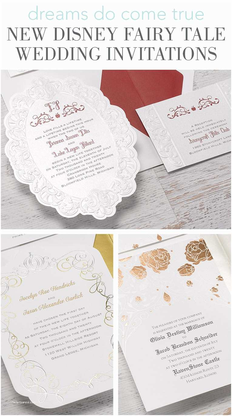 Disney Wedding Invitations New Disney Fairy Tale Wedding Invitations
