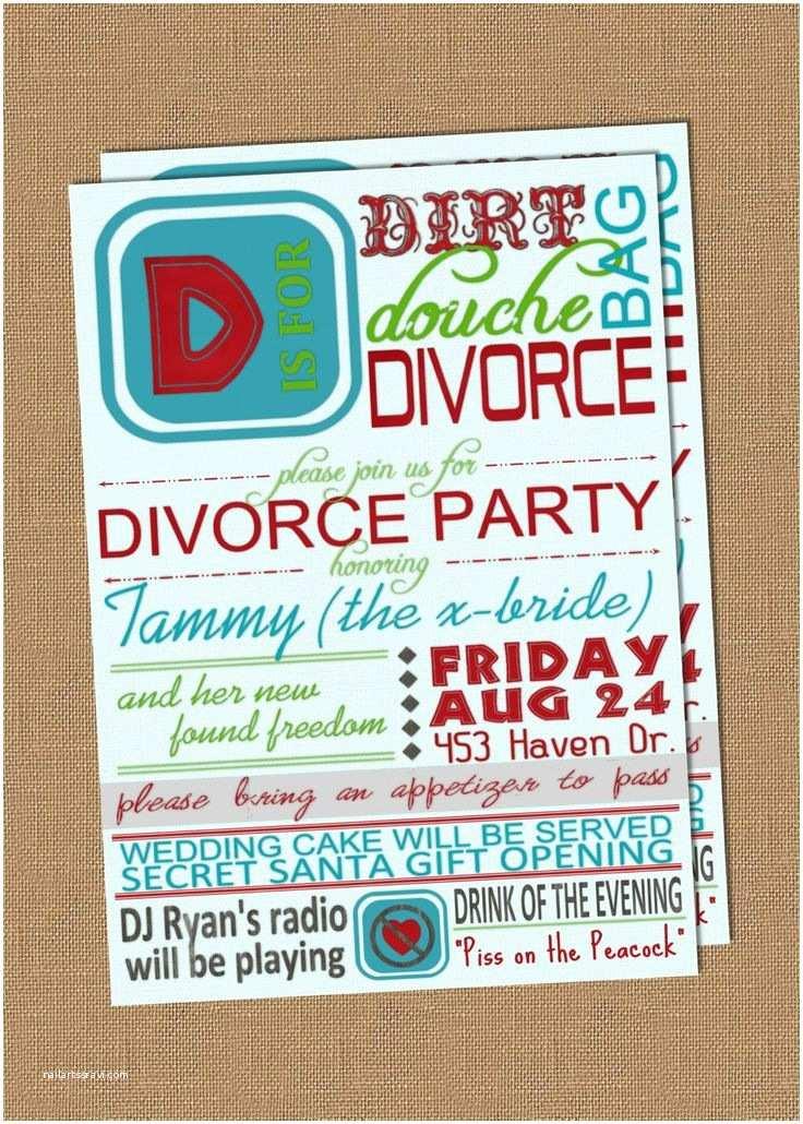 Divorce Party Invitations Divorce Party Invitation