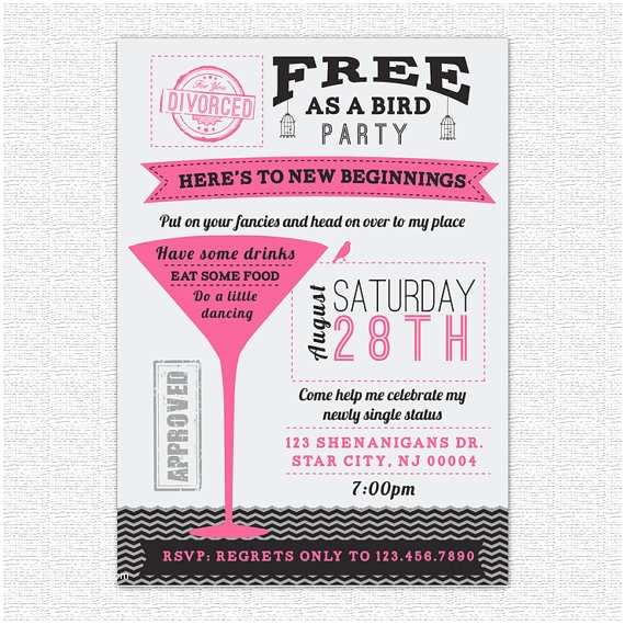 Divorce Party Invitations Items Similar to Divorce Party Invitation Newly Single