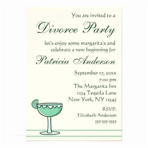 "Divorce Party Invitations Margarita Divorce Party Celebration Invitation 5"" X 7"