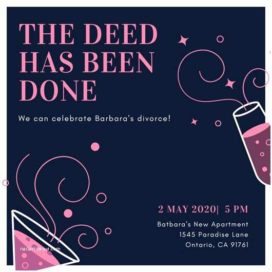 Divorce Party Invitations Pink Flamingo Divorce Party Invitation Templates by Canva
