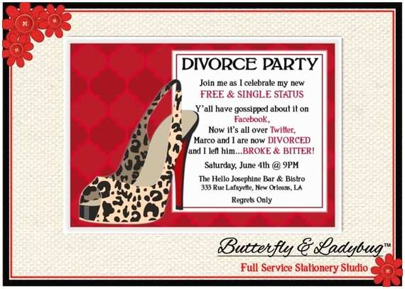 Divorce Party Invitations Wording for Divorce Party Invitations