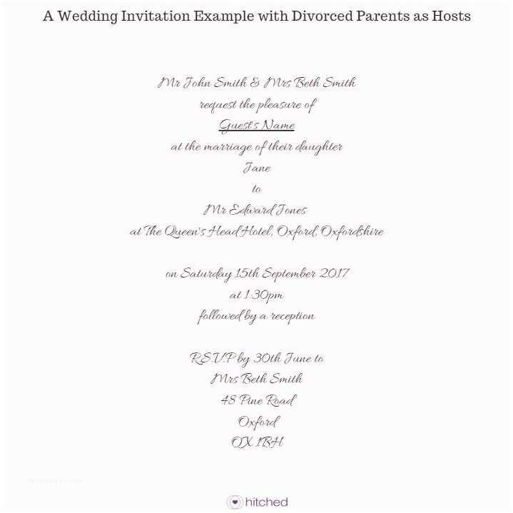 Divorced Parents Wedding Invitation Best Wedding Invitation Wording with Divorced Parents