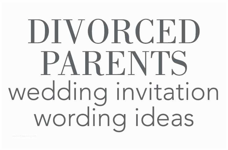 Divorced Parents Wedding Invitation Divorced Parents Wedding Invitation