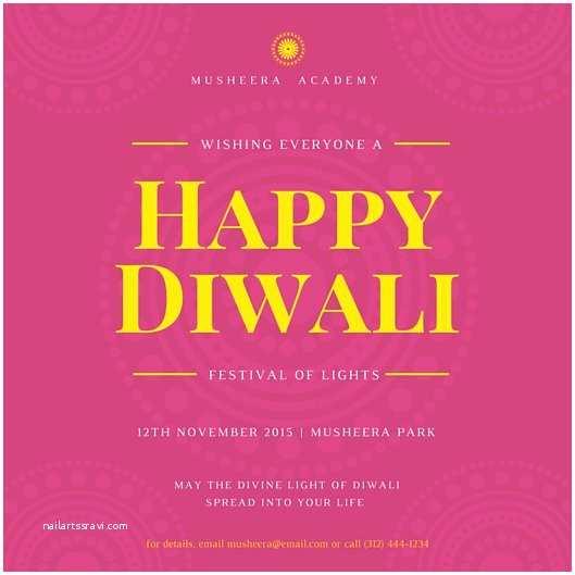 Diwali Party Invitation Design Templates