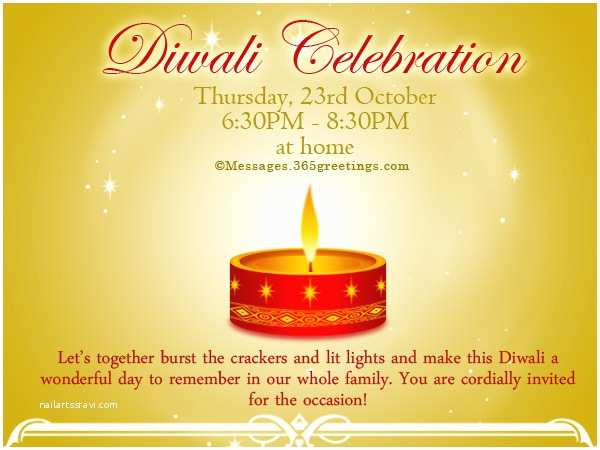 Diwali Party Invitation Diwali Invitations and Wordings 365greetings