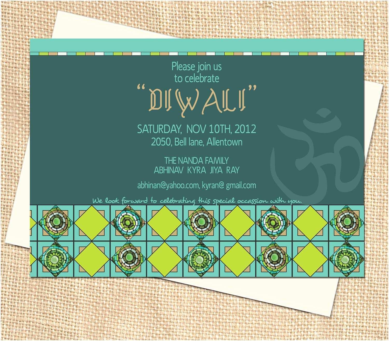 Diwali Party Invitation Diwali Party Invitation