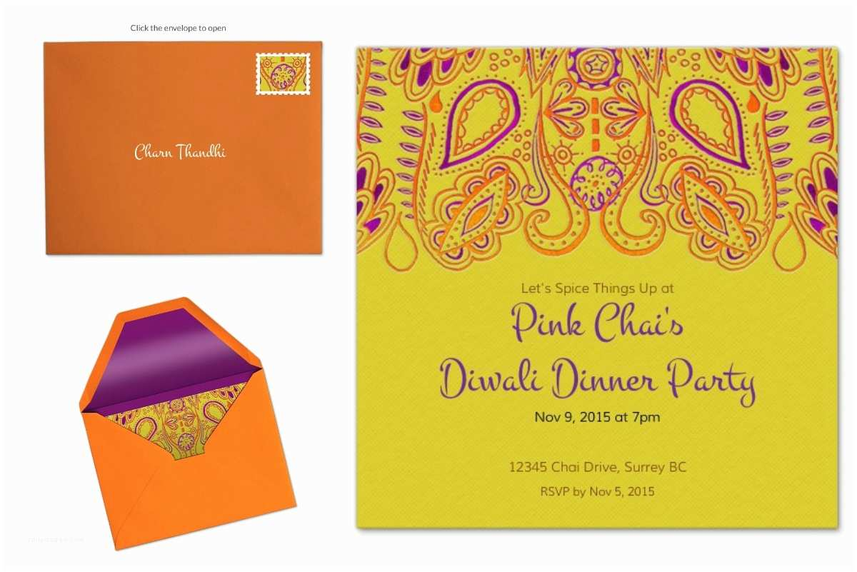 Diwali Party Invitation Diy Centrepiece For Diwali With Evite Pink Chai