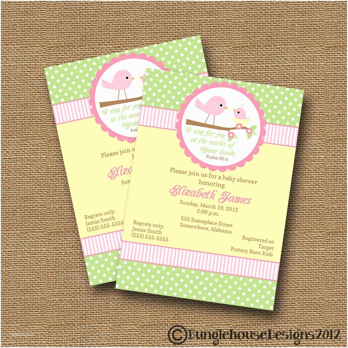 Diy Baby Shower Invitations Bird Baby Shower Invitation Diy Printable Baby Girl Christian