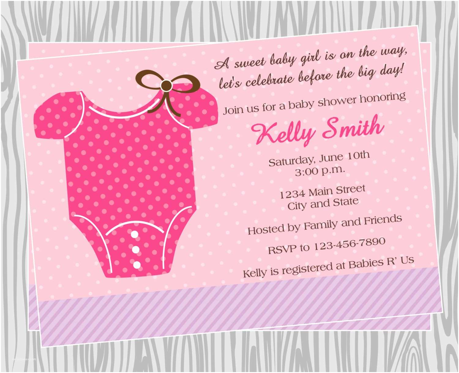 Diy Baby Shower Invitations Diy Baby Girl Esie Baby Shower Invitation Coordinating