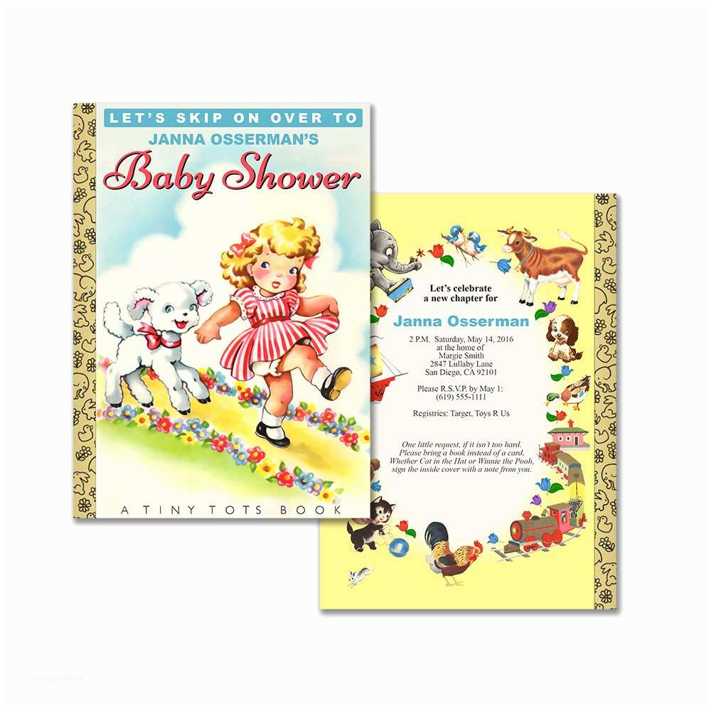 Diy Baby Shower Invitations Storybook Baby Shower Invitation Diy Printable Invitation