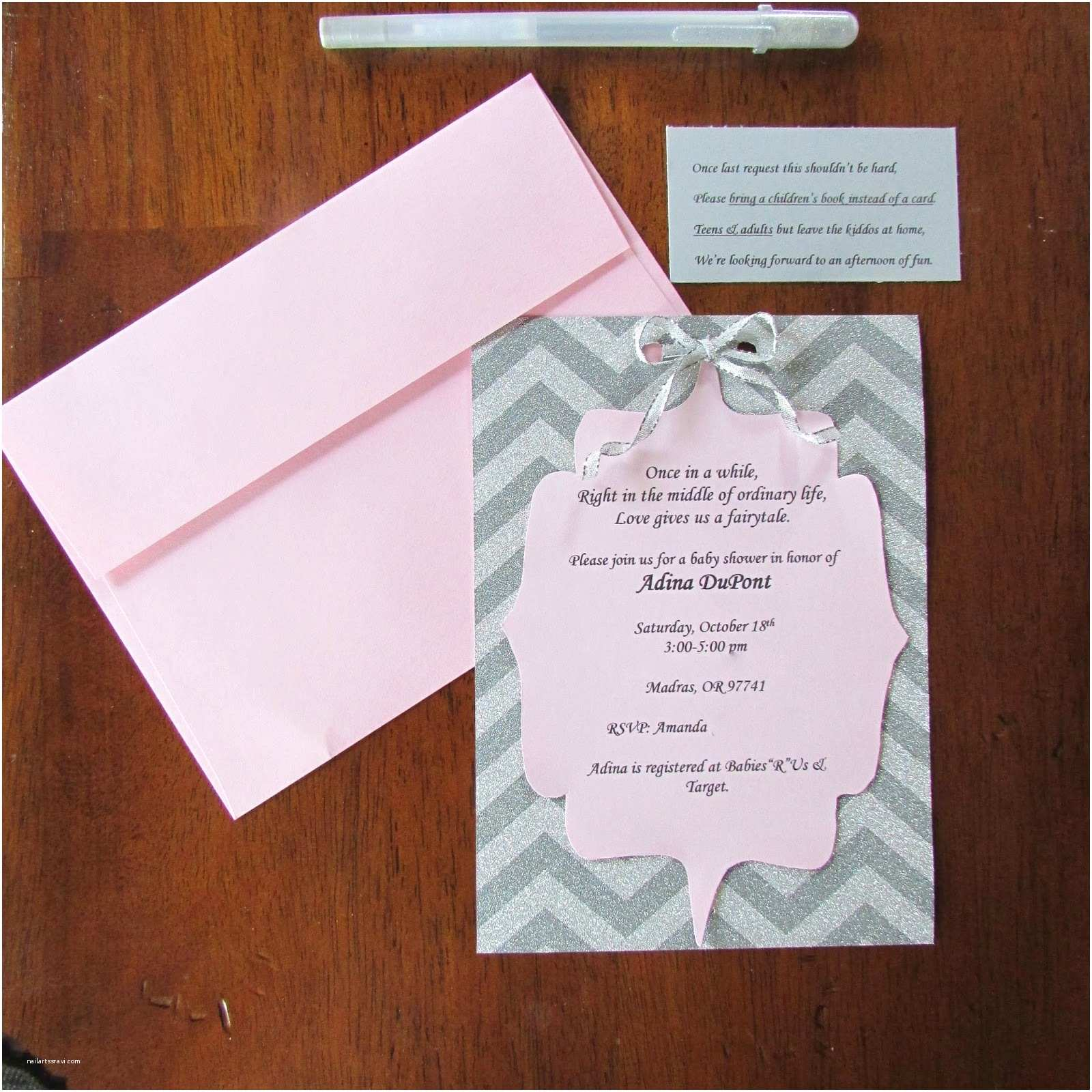 Diy Baby Shower Invitations the Boisebombshell Diy Fairytale themed Baby Shower