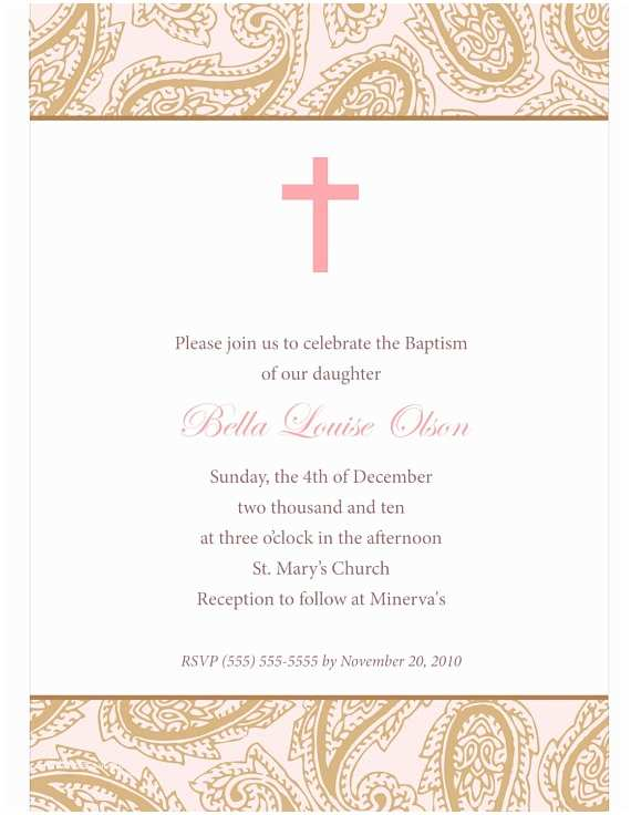 Diy Baptism Invitations Baby Baptism Invitations Diy Invite Template by Memoriesr4ever