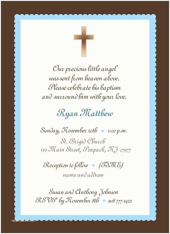 Diy Baptism Invitations Baby Boy Baptism Invitation Boy or Girl Baby Boy
