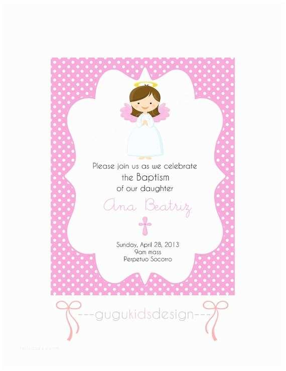Diy Baptism Invitations Items Similar to Diy Printable Girl Baptism Invitation On