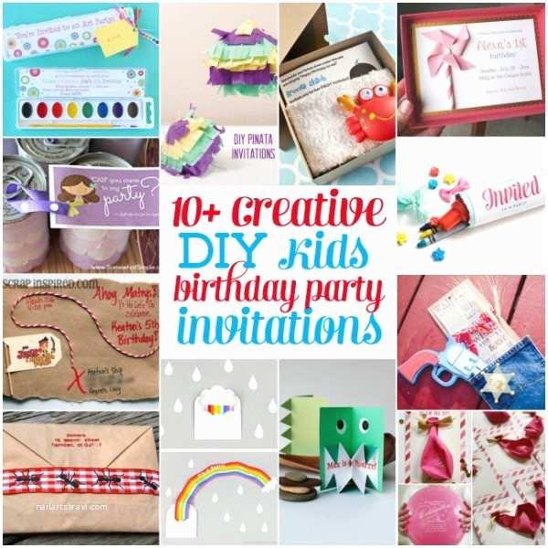 Diy Birthday Invitations 10 Creative Diy Kids Birthday Party Invitations Design