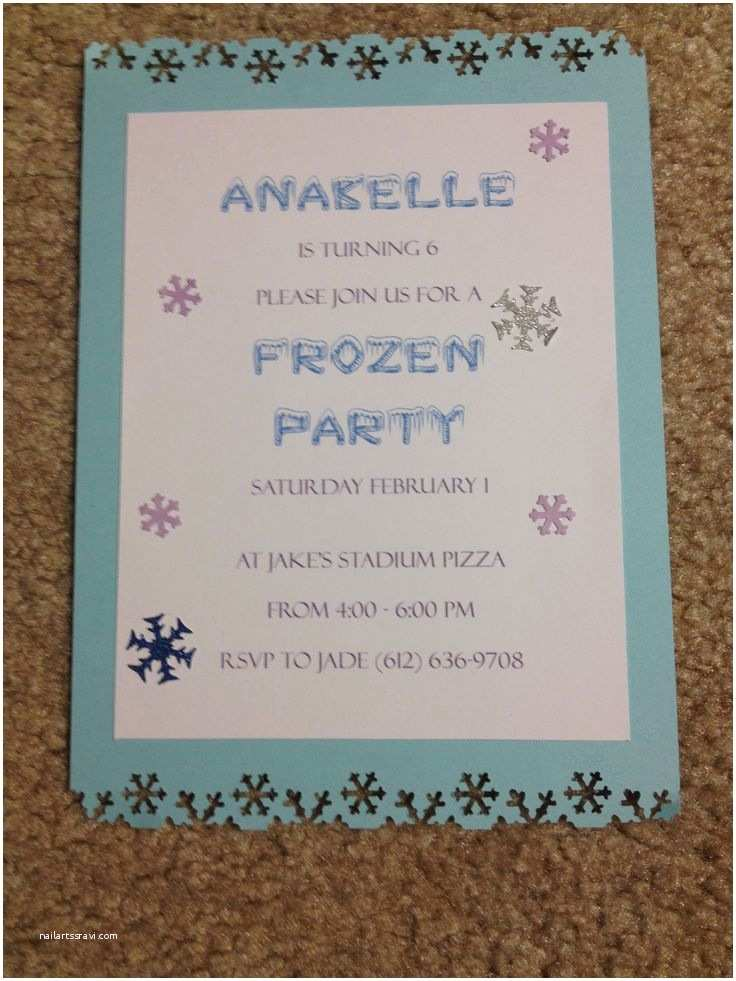 Diy Birthday Invitations Homemade Frozen Party Invitations My Cards