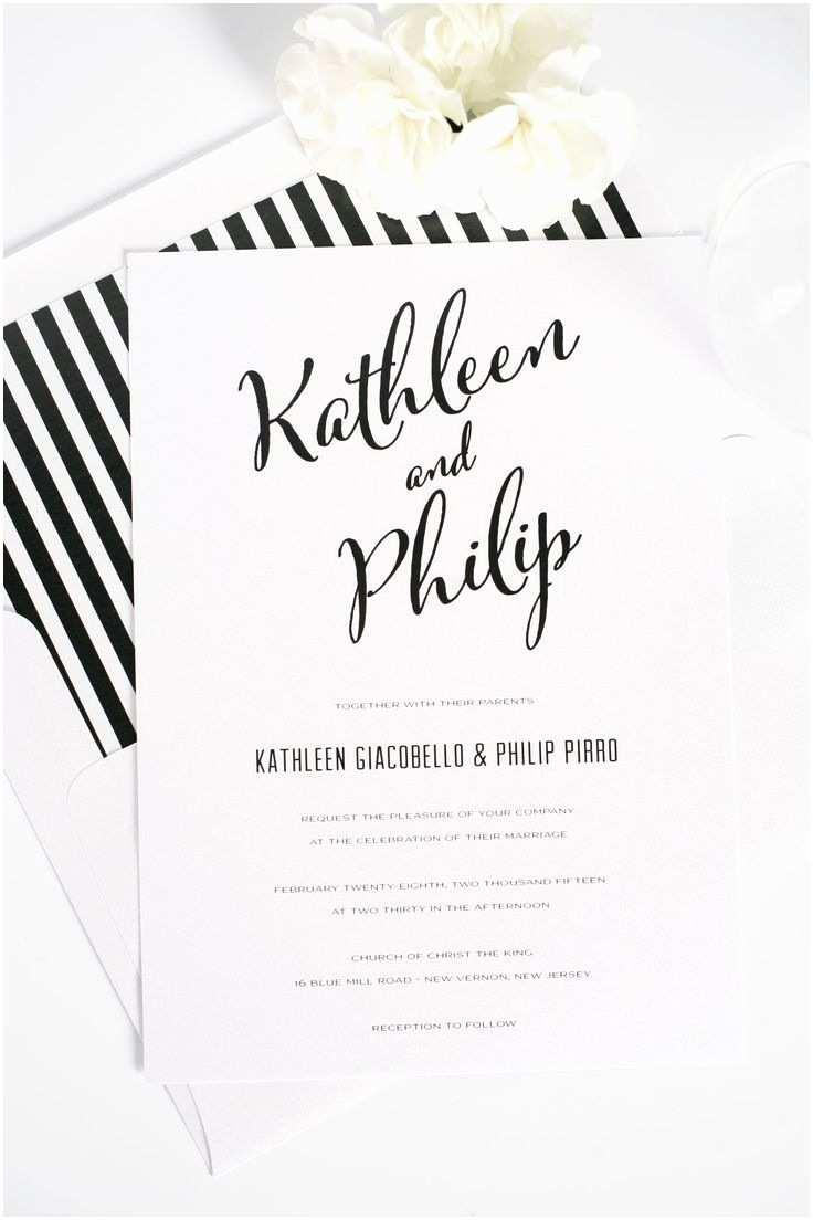 Diy Black and White Wedding Invitations 90 Best Wedding Stationary Images On Pinterest