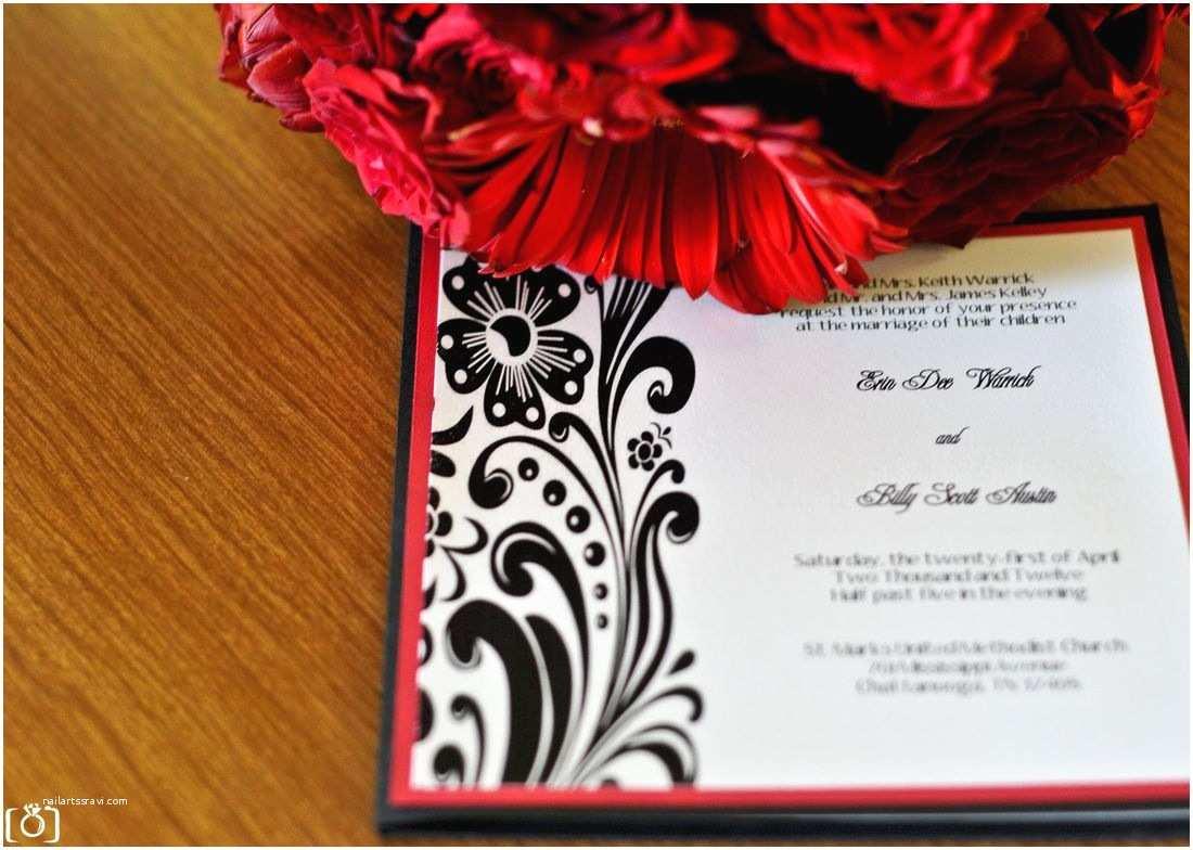 Diy Black and White Wedding Invitations My Custom Diy Black White and Red Wedding Invitations