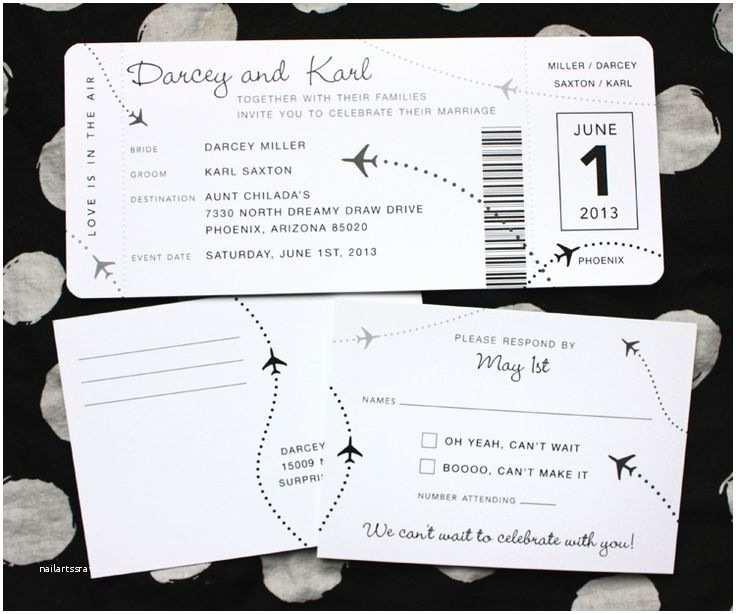 Diy Boarding Pass Wedding Invitations 17 Best Ideas About Boarding Pass Invitation On Pinterest