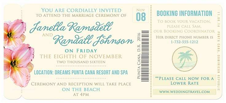 Diy Boarding Pass Wedding Invitations Boarding Pass Invitation Template – orderecigsjuicefo