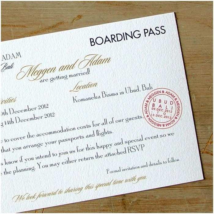Diy Boarding Pass Wedding Invitations Boarding Pass Wedding Invitations Little Flamingo