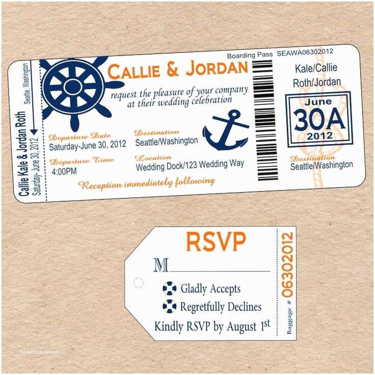 Diy Boarding Pass Wedding Invitations Cruise Boarding Pass New Beginnings